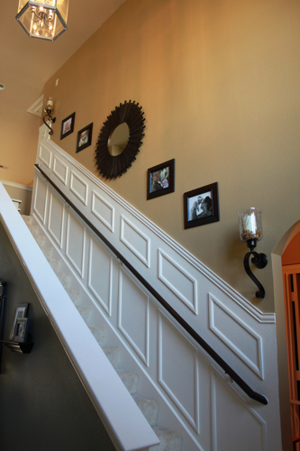 Lighting Basement Washroom Stairs: Adding Moulding To Your Staircase