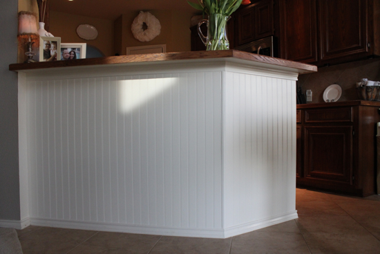 Adding A Bar To A Kitchen Island: From Mediocre To Marvelous: A Beadboard Bar