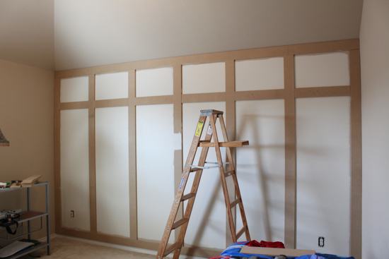 Remodelaholic Diy Paneled Wall Tutorial