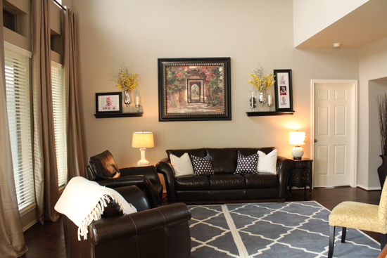 A Beautiful Living Room Makeover {by Emily from Decor ... Sherwin Williams Balanced Beige