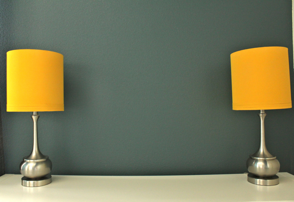 meet my new yellow lamps a spray paint project