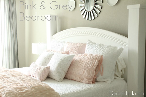 Our New White, Pink, and Grey Bedroom | Decorchick! Changing her ...
