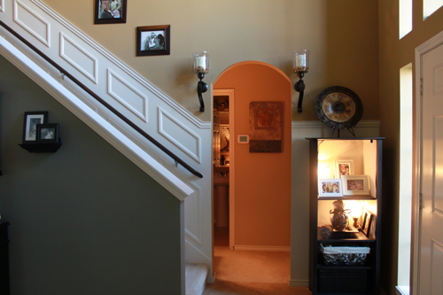 staircase makeover after paneling