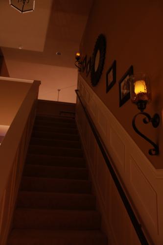 staircase makeover candle decor