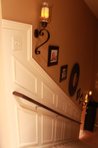 staircase makeover lighting